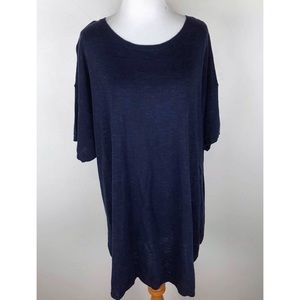 NWT Eileen Fisher Bateau Neck Short Sleeve Top